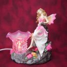 Pink Fairy Burner Wax Tart Scented Oil Candle Warmer Electric Polyresin