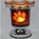 Paw Print Touch Aroma Lamp Wax Tart Scented Oil Warmer Burner Electric Orange