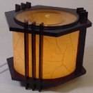 Wood Lantern Fragrance Lamp Wax Tart Oil Warmer Burner Electric Round