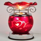 Valentine Touch Aroma Lamp Wax Tart Scented Oil Warmer Burner Electric Heart Red