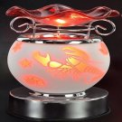 Lobster Touch Aroma Lamp Wax Tart Scented Oil Warmer Burner Electric Orange