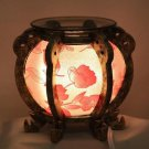 Floral Lantern Fragrance Lamp Wax Tart Oil Warmer Burner Electric Round