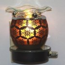 Snowflake Glass Plug In Burner Tart Oil Warmer Wall Outlet Night Light Diffuser