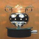 Stars Glass Plug In Burner Tart Oil Warmer Wall Outlet Night Light Diffuser