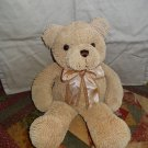 "Stephan Baby Nubby 17"" Teddy Bear Tan nubs chenille sensory plush lovey"