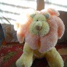 "Russ Leon Lion Orange Yellow 12"" Plush Rattle Stuffed Animal Baby Toy"