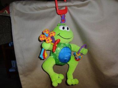 Lamaze Baby Play & Grow Jumpin' Jack Frog Plush Activity Ring Squeak Rattle Toy