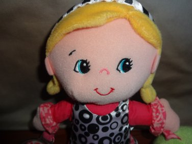 Infantino Blonde Doll Car Seat or Stroller Toy with Mirror and Rattle