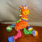Lamaze Play & Grow Giraffe Plush Developmental Toy Colorful Fabrics