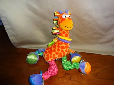 Lamaze Play & Grow Giraffe Plush Developmental Toy Colorful Fabrics