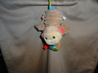 Infantino Brown Monkey Car Seat Developmental Toy Colorful Fabrics