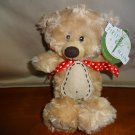 "NWT First and Main 10"" Tan Teddy Bear Stitche Adorable Small Lovey"