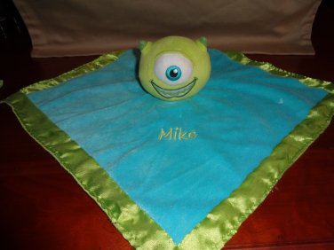 Disney Baby Monster Inc Mike Security Lovey Blanket Ring With Rattle