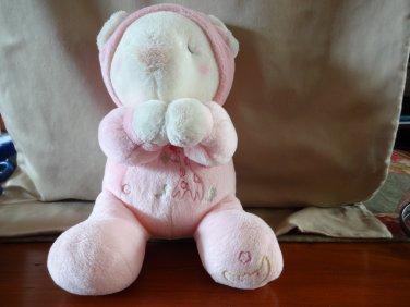 Aurora Baby Now I Lay Me Down To Sleep Plush Bear Pink Giraffe Eating Leaves