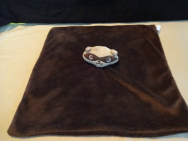 Gymboree Brown Raccoon Soft Minky Baby Blanket Security Lovey 2009