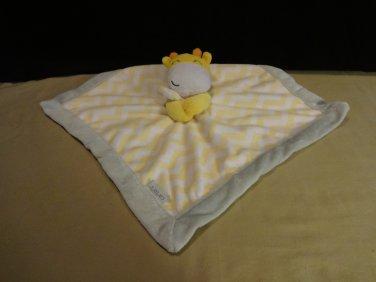 Carters Orange Yellow Giraffe Security Blanket  Baby Lovey Fleecy Friend