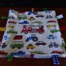 "H&M Taggie Transportation Theme Boy Security Blanket Cotton Velour 10"" Lovey"