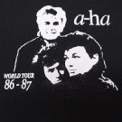 A-Ha band ***MEDIUM*** screen printed t-shirt Black aha