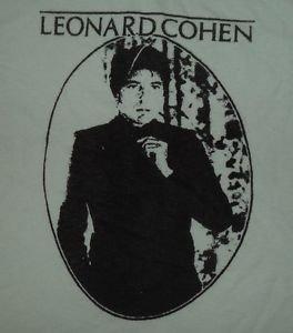 Leonard Cohen ***2XL*** White screen printed t-shirt