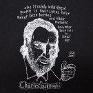Charles Bukowski ***XLARGE*** Quote t-shirt Black screen printed