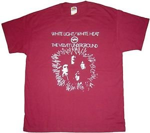 Velvet Underground band WLWH album t-shirt LARGE Burgundy