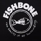 Fishbone band Logo ***MEDIUM*** screen printed t-shirt Black punk retro