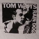 Tom Waits Rain Dogs album ***LARGE*** white screen printed t-shirt