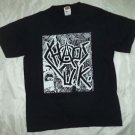 Chaos in the UK band ***SMALL*** screen printed t-shirt Black