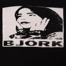 Bjork ***MEDIUM*** screen printed t-shirt Black retro style