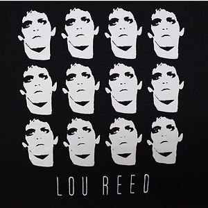 Lou Reed Collage ***LARGE*** screen printed t-shirt Black punk retro