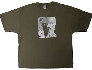 Lou Reed Collage ***2XL*** screen printed t-shirt Sand-brown punk retro
