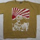 "The Clash band rare ""Kamikazi"" ***XLarge*** screen printed sand-beige t-shirt"