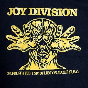 Joy Division band ***LARGE*** Poster printed t-shirt Yellow on Black