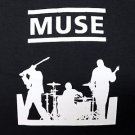 Muse band ***LARGE*** screen printed t-shirt punk retro concert Black