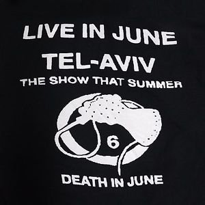 Death In June band ***LARGE*** Poster printed t-shirt Black punk retro