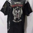 Motorhead band ***LARGE*** screen printed t-shirt Black cut out design