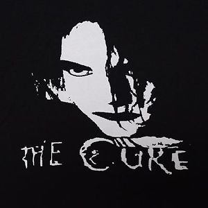 The Cure band ***SMALL*** screen printed t-shirt Black Robert Smith