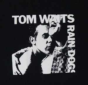 Tom Waits Rain Dogs album ***MEDIUM*** black screen printed t-shirt