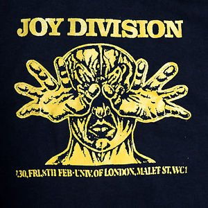 Joy Division band Flyer ***SMALL*** printed t-shirt Yellow on Black