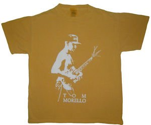 Tom Morello ***XSMALL*** screen printed t-shirt adult Sand-brown