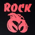 Rock Lobster song  ***XLARGE*** Red on Black screen printed t-shirt B-52s band