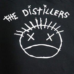 Distillers band Logo ***SMALL*** screen printed t-shirt Black punk retro