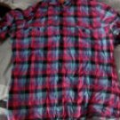 Used Topman Check Gingham Purple Pink Blue Medium Turqouise Black Shirt Short Sleeve Zara H&M