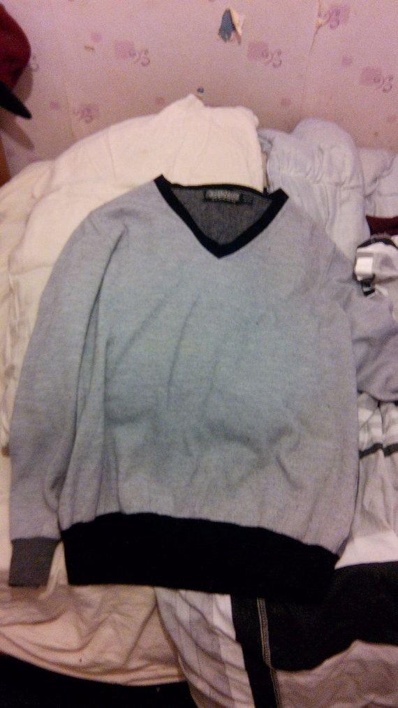 Topman Grey Black Jumper Sweater XL Used Urban Outfitters River Island Zara H&M Colour Block Mens
