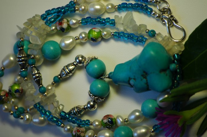 Moon Mama's Turquoise Healing Necklace