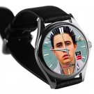 cool nash grier leather silver Wristwatches