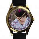 cool hayes grier leather gold Wristwatches