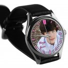 cool hayes grier leather silver Wristwatches