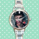 cute brent rivera round charm watches stainless steel