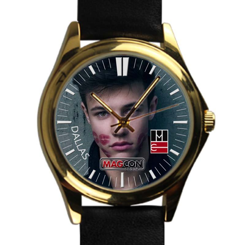 cool brent rivera leather gold Wristwatches